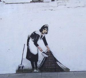 bron: flickr all credits to: Chalk Farm Banksy/Graham c99