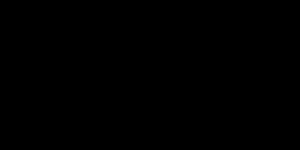 tekening van gitaarsilhouet in muzieknoten