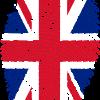 vingerafdruk met Britse vlag patroon