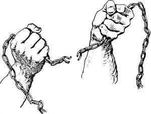 gebroken ketting handen